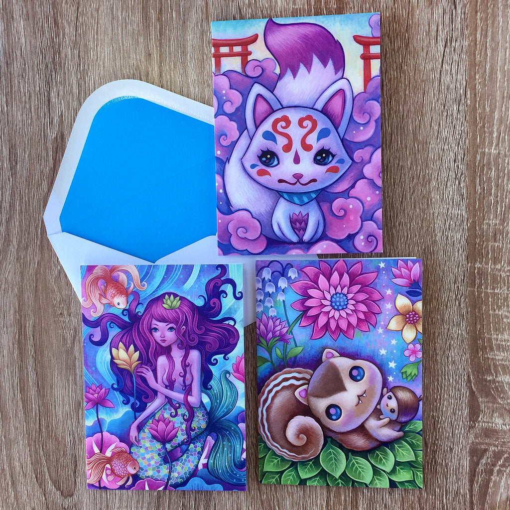 Greeting Card Set- 3 Cards