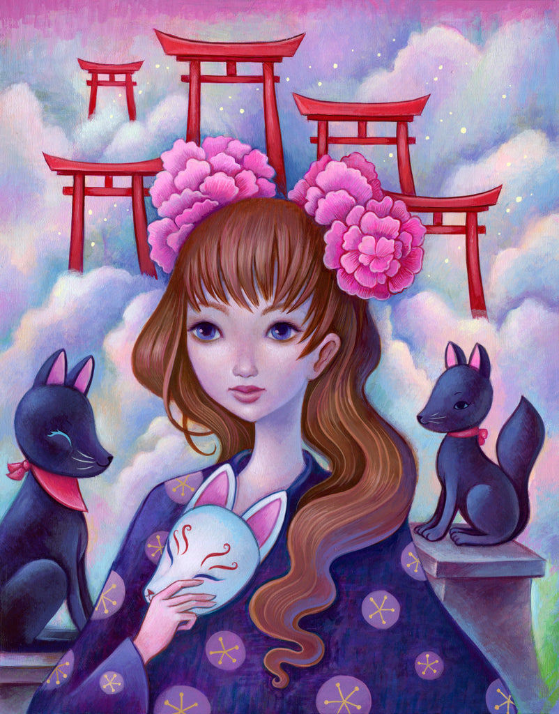 Kitsune Shrine  - Fine Art Print