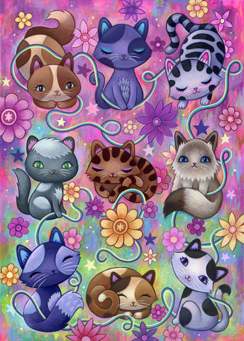 Kitty Cats - Fine Art Print