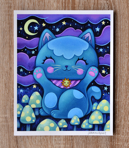 Midnight Manekineko - Fine Art Print