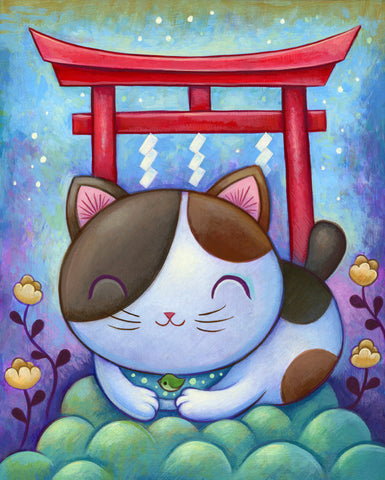 Neko Shrine - Fine Art Print