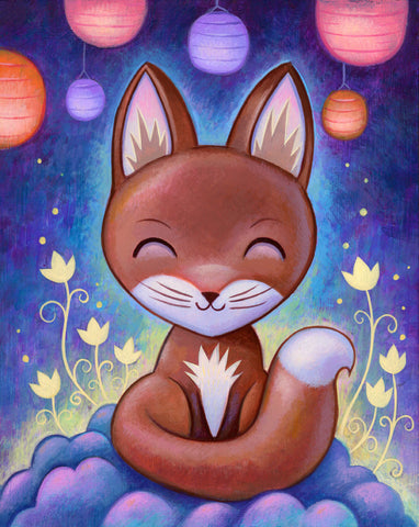 Night Kitsune - Fine Art Print