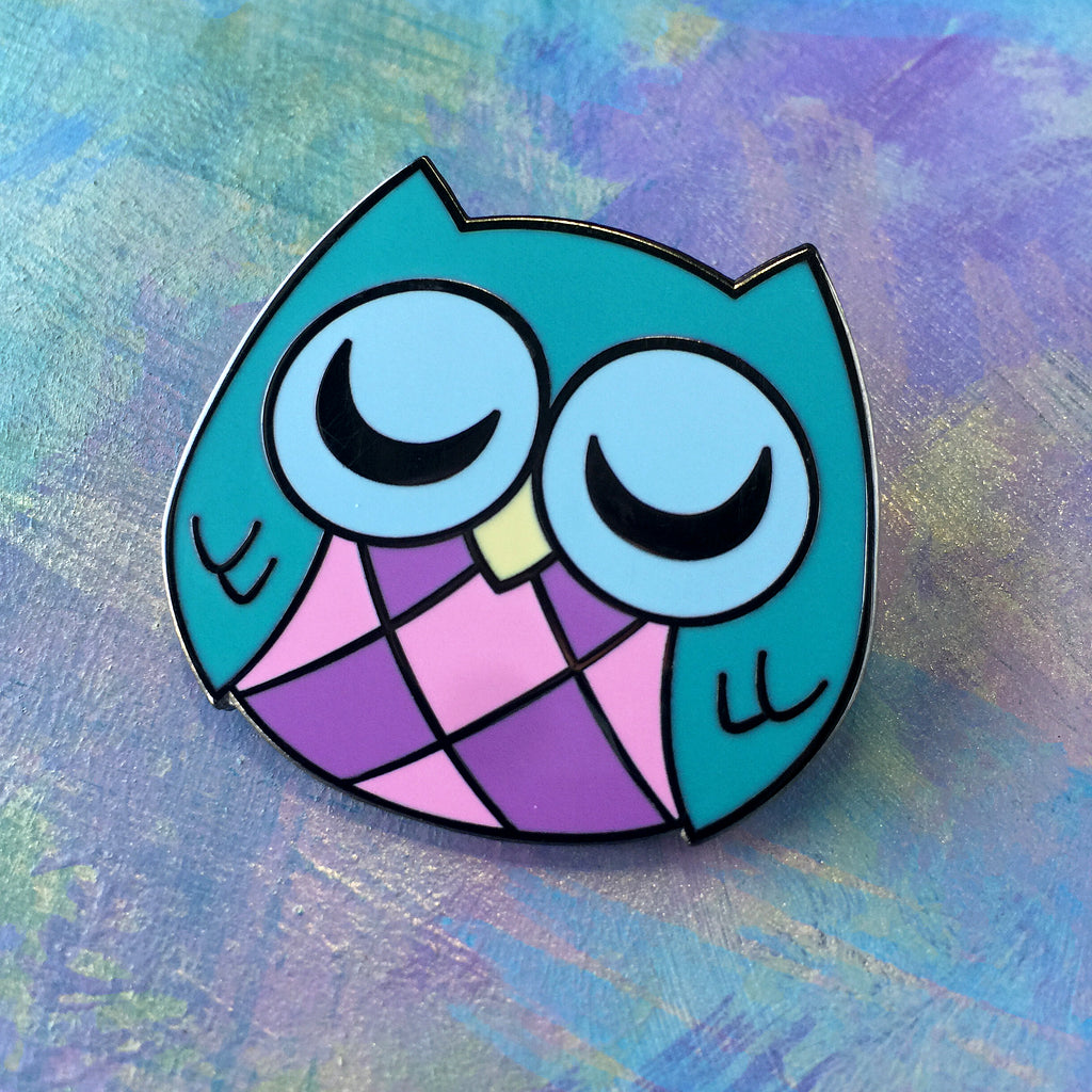 Sleepy Owl - Hard Enamel Pin