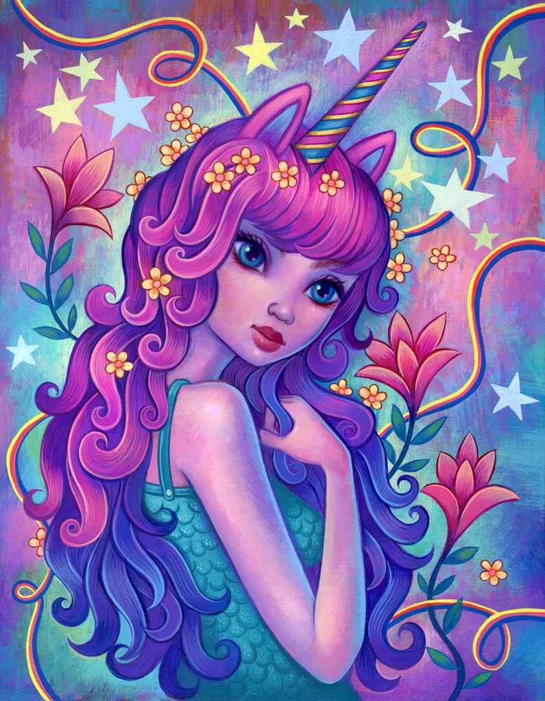 Unicorn Girl - Fine Art Print