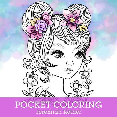 Pocket Coloring Book | Jeremiah Ketner | Instant Download pdf