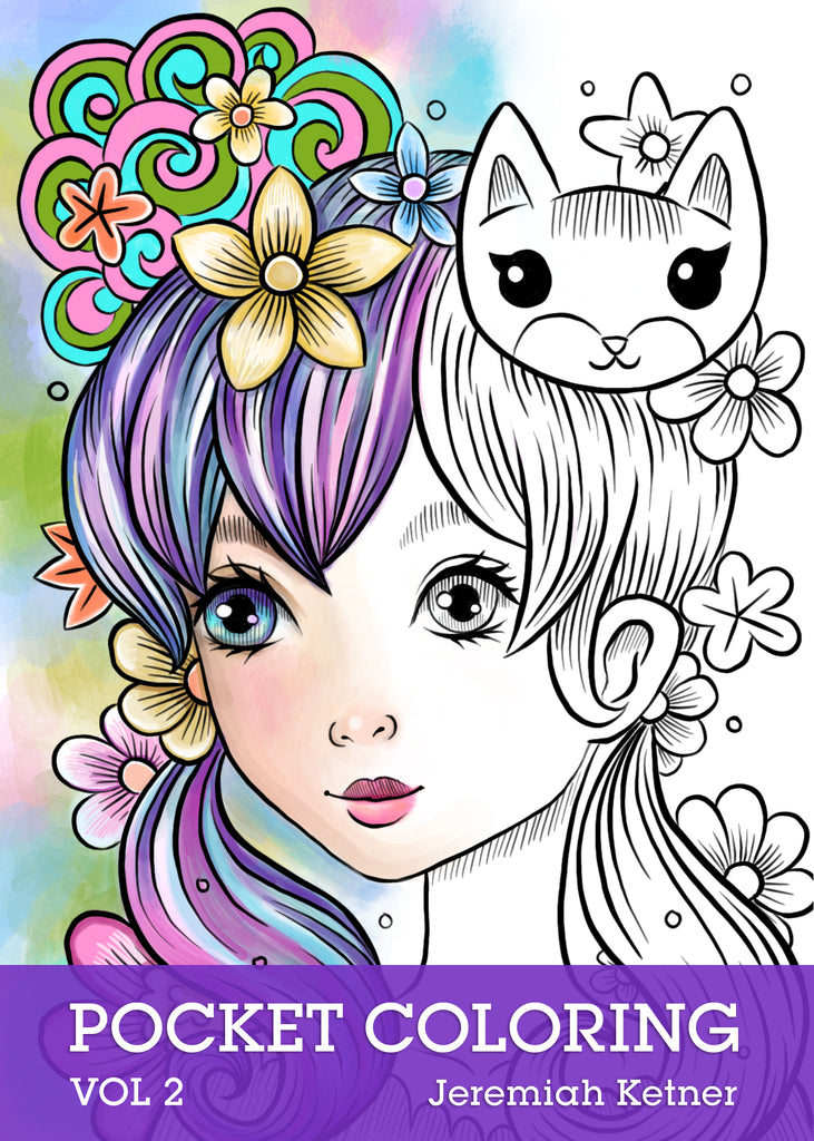 Pocket Coloring Book Vol 2 | Jeremiah Ketner | Instant Download pdf