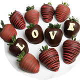 Custom Message Chocolate Strawberry Gift Box