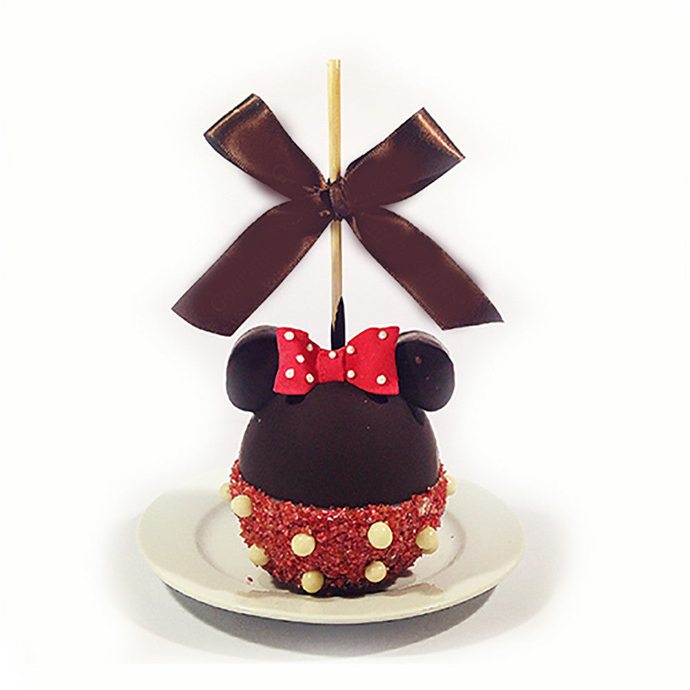 Minnie Mouse Chocolate Apple