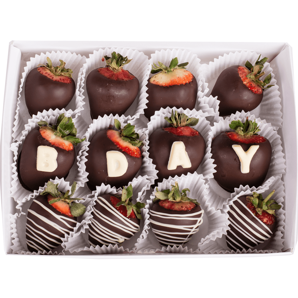 Happy Birthday Chocolate Strawberry Gifts Edible Bouquets
