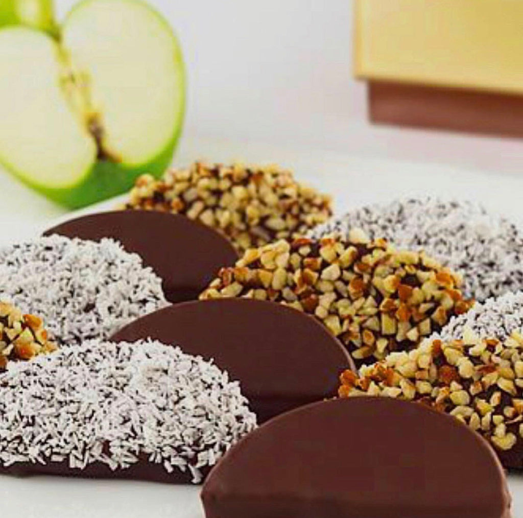 Assorted Chocolate Apple Wedges
