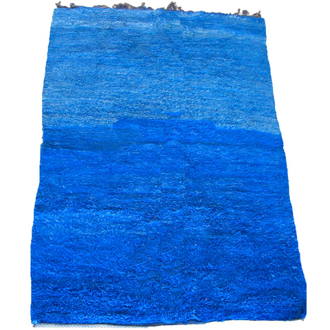 Large Vintage Blue Rothko Inspired Beni M'Guild Carpet