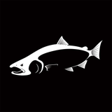 Skiff Life King (Chinook) Salmon Car Decal Stickers in Black or White - Skiff Life - We Fish Skinny Water! - 6