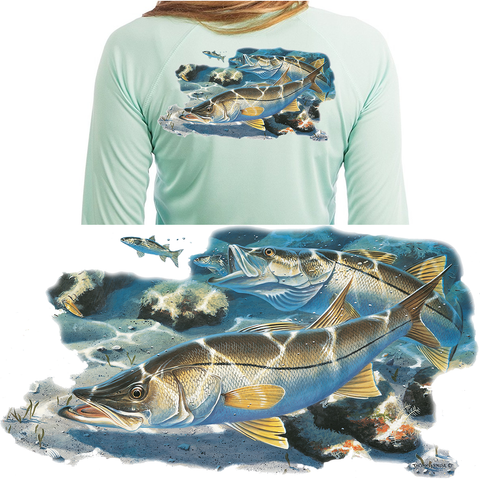 Womens Fishing Shirts Thomas Krause Snook - Skiff Life