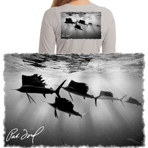 Women Pat Ford Sailfish Vignette Fishing Shirt