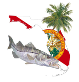 Snook Florida Fishing Shirt with FL State Flag Sleeve - Skiff Life