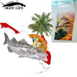 Womens Fishing Shirt Snook Florida Flag Custom Sleeve - Shirts - Skiff Life