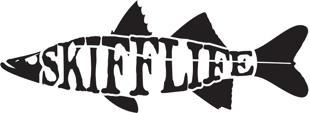 Skiff Life Snook Fish Car & Truck Decal Stickers Text - Skiff Life - We Fish Skinny Water! - 2