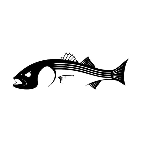 Skiff Life Striper Bass Fishing Decal Sticker - Skiff Life - We Fish Skinny Water! - 1