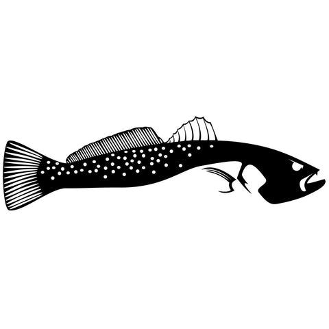 Skiff Life Speckled Sea Trout Fishing Decal Sticker Full Tail - Decals / Stickers - Skiff Life