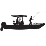 Skiff Life T-Top Flats Console Fishing Boat-Car Decal Stickers - Skiff Life - We Fish Skinny Water! - 1