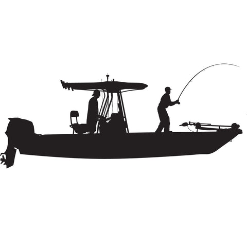 Boat Decal T-Top Design - Skiff Life