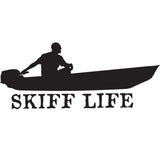 Skiff Life Jon Boat Car Truck Window Decal Stickers - Skiff Life - We Fish Skinny Water! - 8