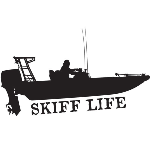 Flats Skiff Car Decals Boat Stickers Skiff Life We