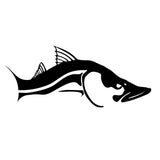 Skiff Life Snook Fish Car & Truck Decal Stickers in Black or White - Skiff Life - We Fish Skinny Water! - 1