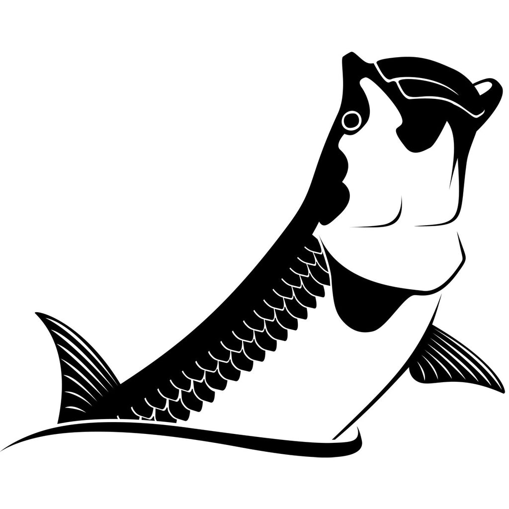 Tarpon Car Decal  Vinyl Tarpon Stickers Truck Coolers  Skiff - Car decal stickers