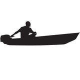 Skiff Life Jon Boat Car Truck Window Decal Stickers - Skiff Life - We Fish Skinny Water! - 1