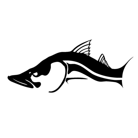 Skiff Life Snook Fish Car Amp Truck Decal Stickers In Black
