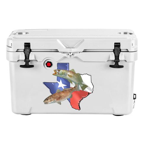 Texas Stickers with Fishing Decals - Skiff Life