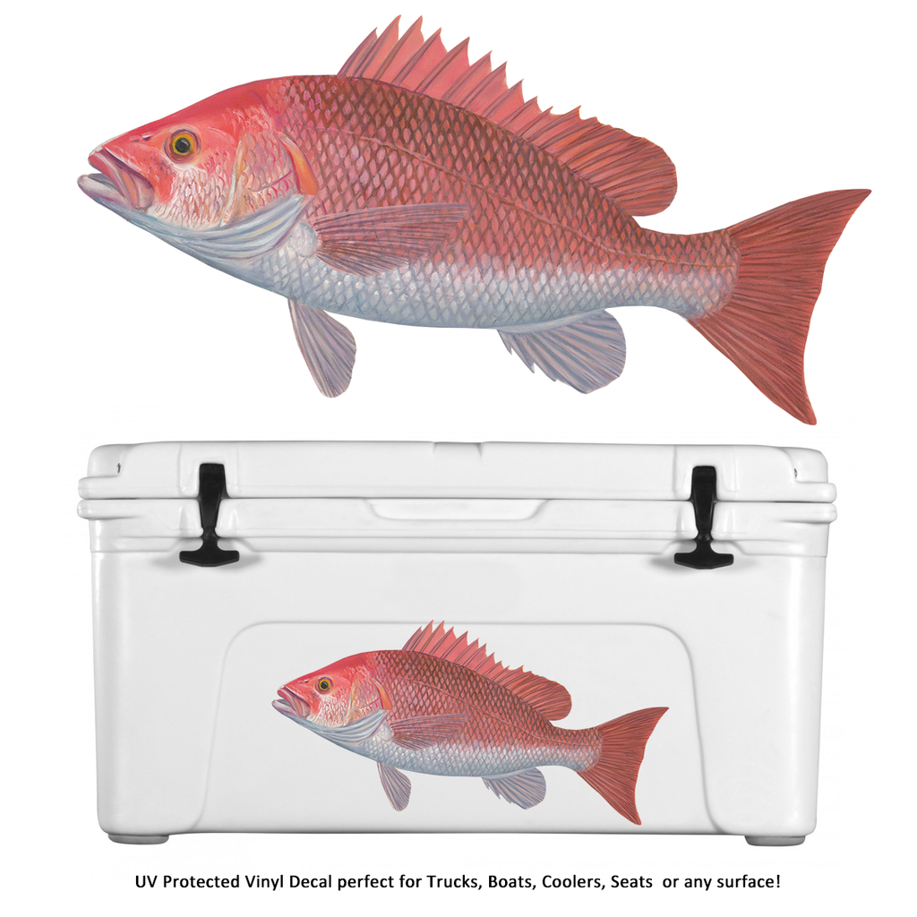 Red Snapper Decals - Decals Stickers - Skiff Life
