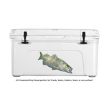 Skiff Life Striper Bass Fishing Decal Sticker Randy McGovern Art - Decals / Stickers - Skiff Life