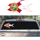 Permit Outline with Florida Flag Decal