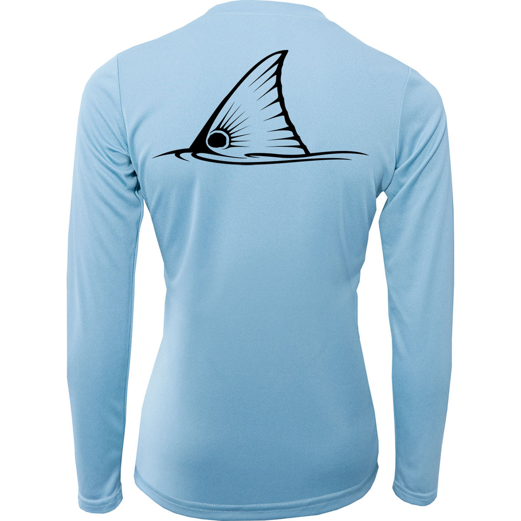 Women Fishing Shirt Redfish Tail - Skiff Life