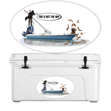 Mandalorian Baby Yoda Fishing Decal Sticker - Skiff Life