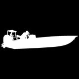 Skiff Life New Flats In Shore Fishing Boat-Car Decal Stickers - Skiff Life - We Fish Skinny Water! - 1