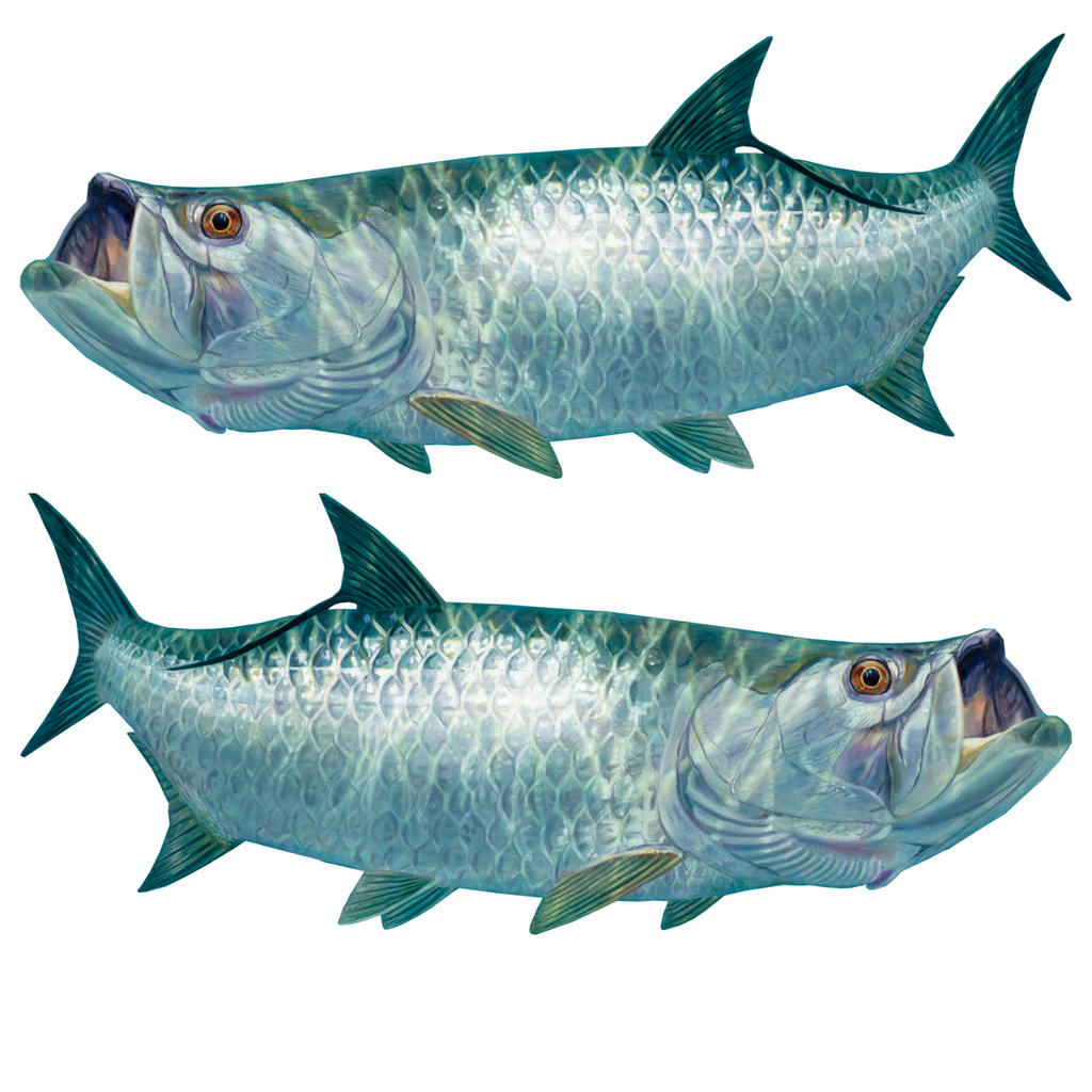 Tarpon Decals Lifelike Mini - Skiff Life