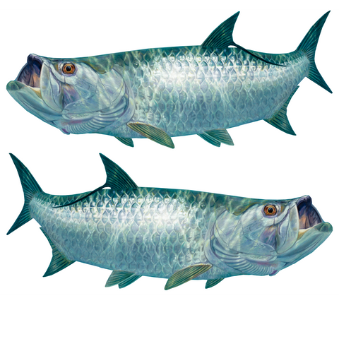 Tarpon Decals Lifelike Mini - Decals Stickers - Skiff Life