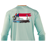 Fishing Shirt Poling Skiff North Carolina State Flag - Skiff Life