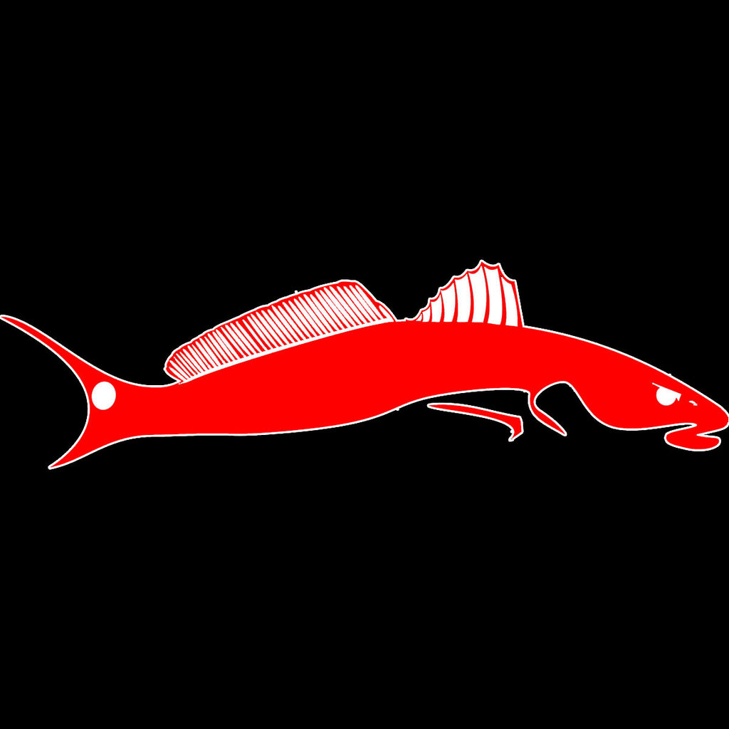 Limited Edition Red/White Redfish Decal Tailchaser - Skiff Life
