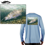 Striper Fishing Shirt Randy McGovern Artwork - Skiff Life