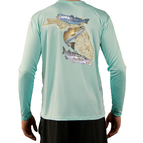 Snook, Redfish & Trout Men's Fishing Shirt - Skiff Life