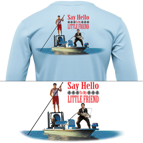 Snook Scarface Say Hello To My Little Friend Mens Fishing Shirt