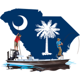 Fishing Shirt Poling Skiff South Carolina State Flag - Skiff Life
