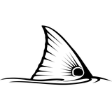 Redfish Tail Decal in Black by Skiff Life - Skiff Life