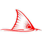 Tailing Redfish Decal in Red Vinyl - Skiff Life