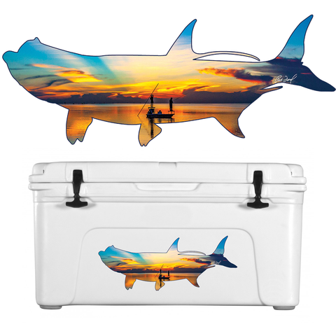 "Pat Ford-Decal Tarpon Outline ""Sunrise on the Bay Capt Rick Murphy & Stu Apte"""