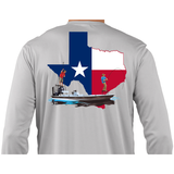 Fishing Shirt Poling Skiff Texas State Flag - Skiff Life